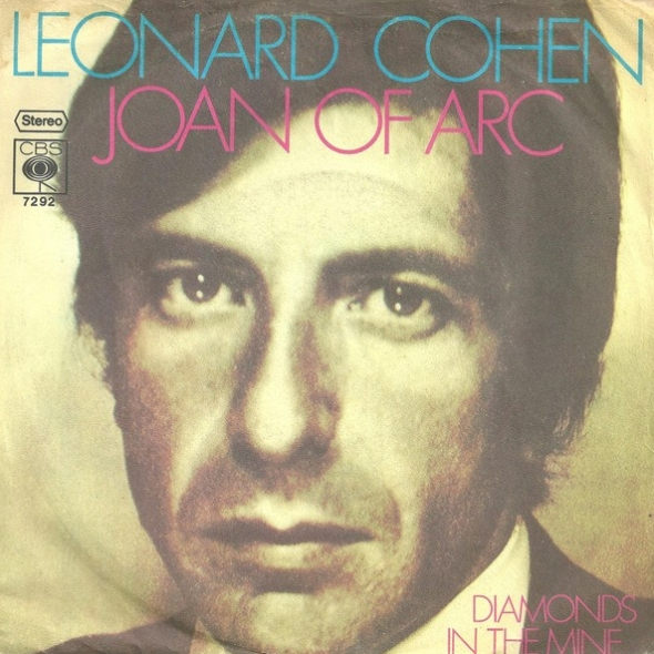 Single cover Joan of Arc by Leonard Cohen