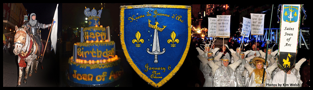 Krewe de Jeanne d'Arc parade photo montage. Photos by Kim Walsh