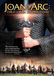 DVD cover: Joan of Arc Child of War, Soldier of God