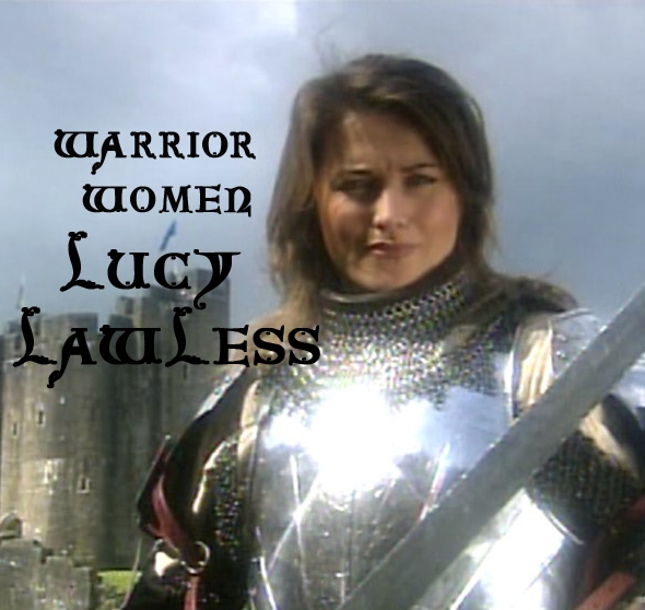 Lucy Lawless screen shot in Joan armour
