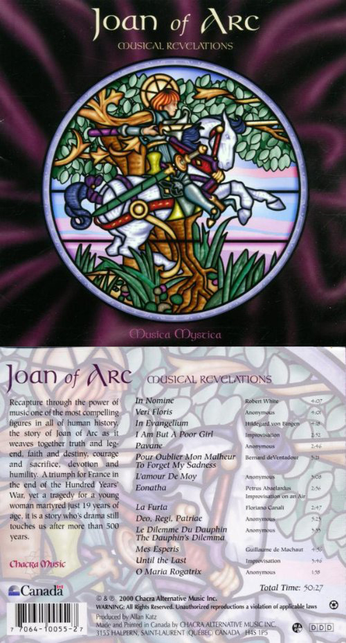 Album front and back of Musical Revelations by Joan of Arc