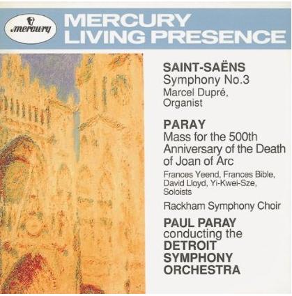 Album cover: Paul Paray Mass for Joan of Arc and Saint-Saens Symphony No. 3